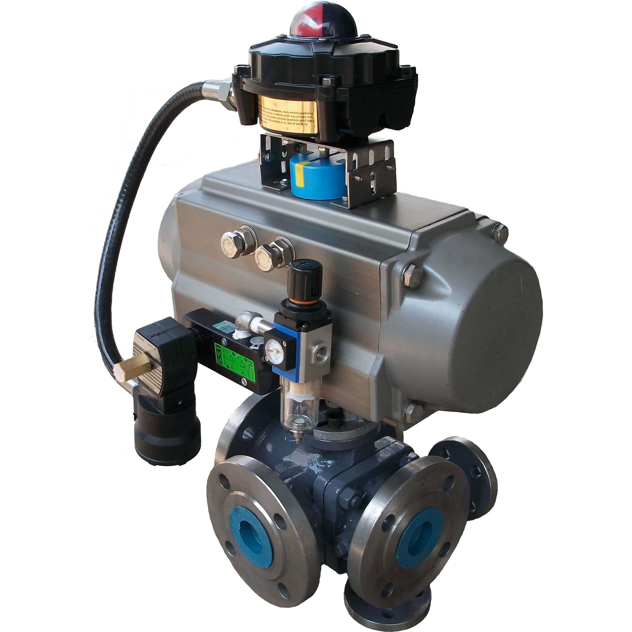 Pneumatic tee heat preservation jacket ball valve