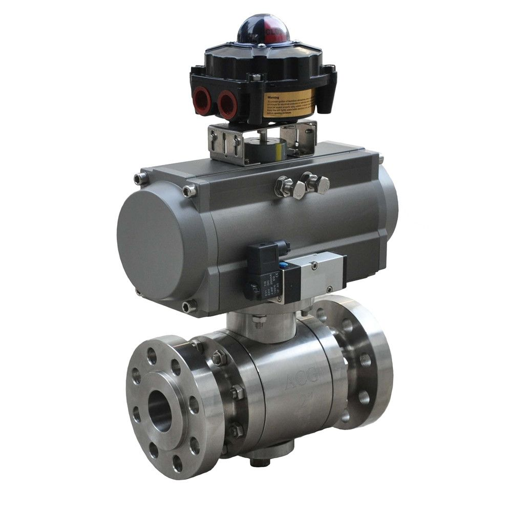 HD high pressure forged steel valve pneumatic ball valve