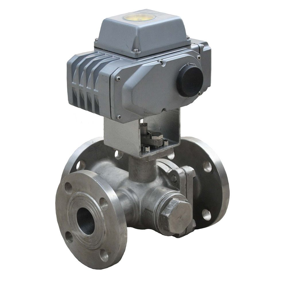 HD electric 3-way ball valve